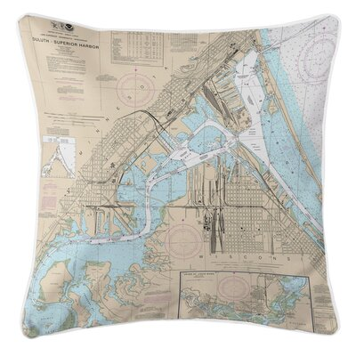 Adamsville Duluth, MN and Superior, WI Throw Pillow