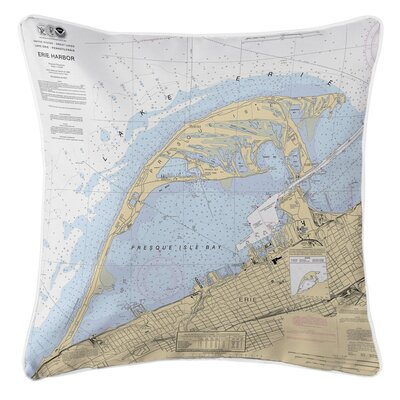Ellisburg Erie Harbor, PA Throw Pillow