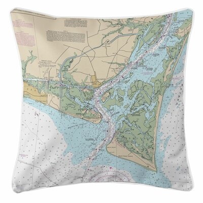 Addyson Oak Island, Southport, Bald Head Island, NC Throw Pillow