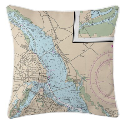 Ellisburg New Bern, NC Throw Pillow