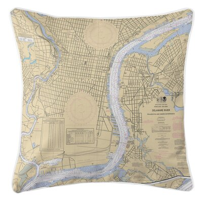 Ellisburg Philadelphia, PA and Camden, NJ Throw Pillow