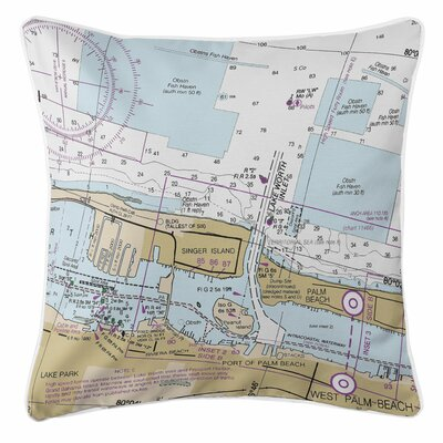 Addyson Lake Worth Inlet, Singer Island, FL Throw Pillow