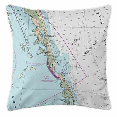 Ellisburg Oregon Inlet, NC Throw Pillow