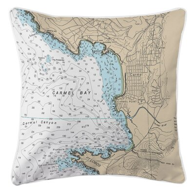 Carmel, Pebble Beach, CA Throw Pillow
