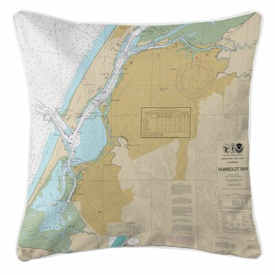 Eureka, Humboldt Bay, CA Throw Pillow
