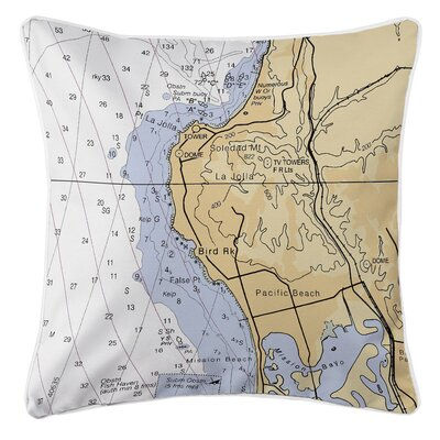 La Jolla, CA Throw Pillow