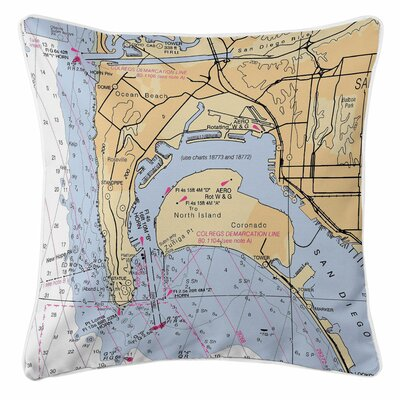 Ocean Beach, Coronado, CA Throw Pillow