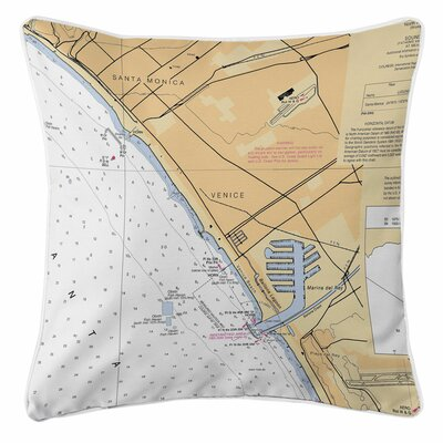 Santa Monica, Venice, Marina del Rey, CA Throw Pillow