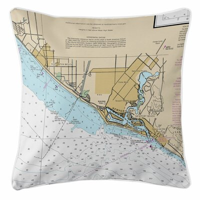 Huntington, Newport Beach, CA Throw Pillow
