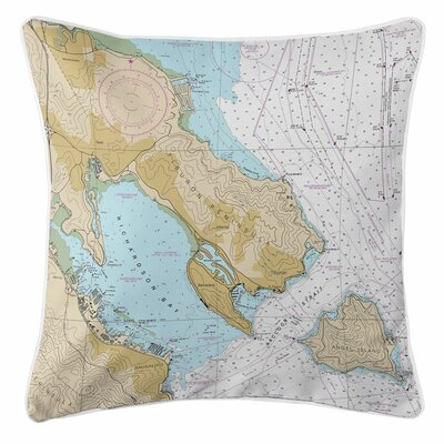 Tiburon Peninsula, Angel Island, CA Throw Pillow