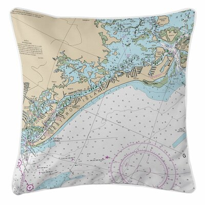 Estero Island, Fort Myers Beach, FL Throw Pillow