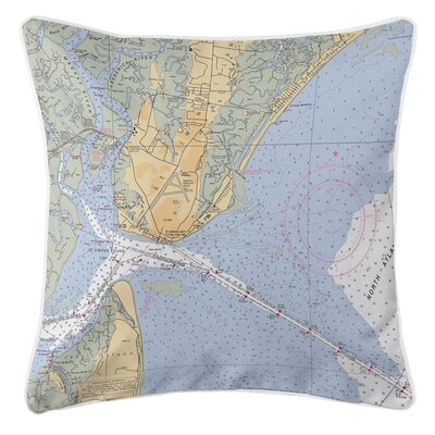 Saint Simons Island, GA Throw Pillow