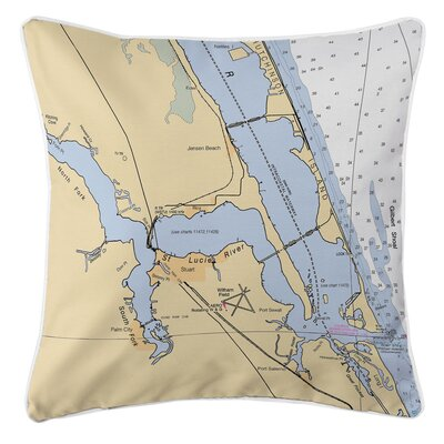 Jensen Beach, Stuart, FL Throw Pillow