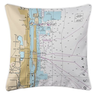 West Palm Beach, FL Throw Pillow