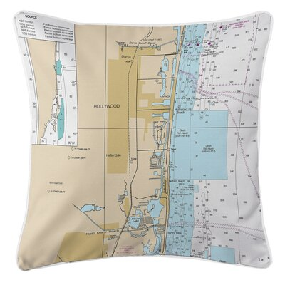 Hollywood, FL Throw Pillow