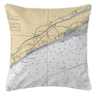North Myrtle Beach, SC Throw Pillow