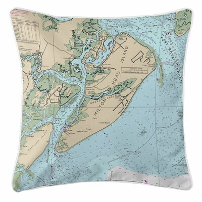 Hilton Head Island, SC Close Up Throw Pillow