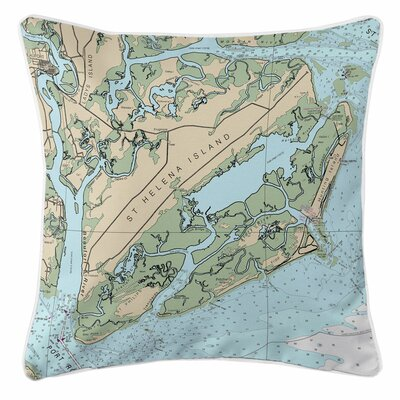 St. Helena Island, Fripp Island, Hunting Island, SC Throw Pillow