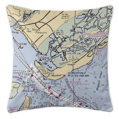 Mount Pleasant, Sullivans Island, SC Throw Pillow
