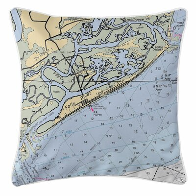 Folly Island, SC Throw Pillow