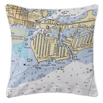 Key Colony Beach Marathon, FL Throw Pillow