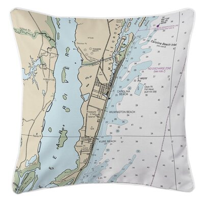 Addyson Carolina Beach, Wilmington Beach, Kure Beach, NC Throw Pillow