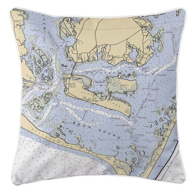 Ellisburg Harkers Island, NC Throw Pillow