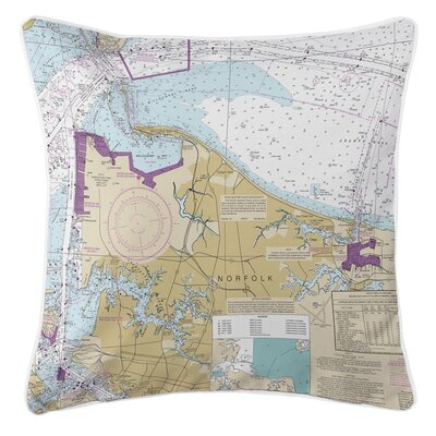 Addyson Norfolk, VA Throw Pillow