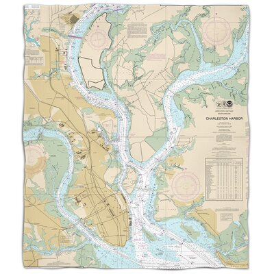 Ellisburg Charleston, SC Fleece Throw