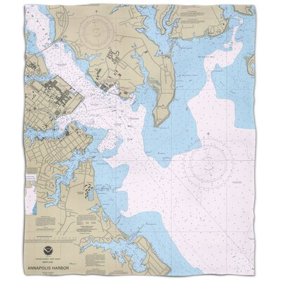 Ellisburg Annapolis Harbor Fleece Throw