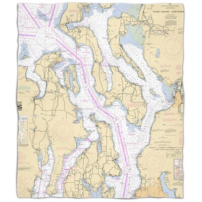 Ellisburg Puget Sound Northern, WA Fleece Blanket