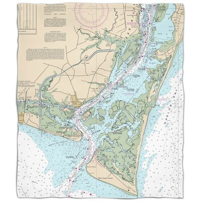 Ellisburg Oak Island Southport Bald Head Island, NC Fleece Blanket