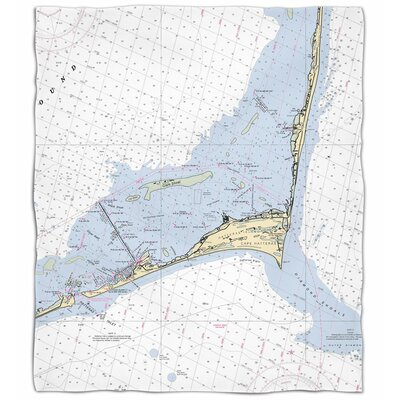 Ellisburg Cape Hatteras, NC Fleece Blanket