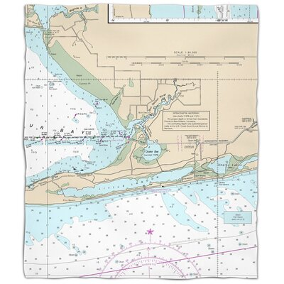 Ellisburg Gulf Shores, AL Fleece Throw