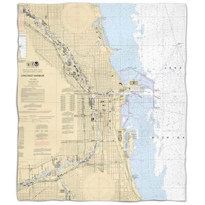 Ellisburg Chicago Harbor, IL Fleece Blanket