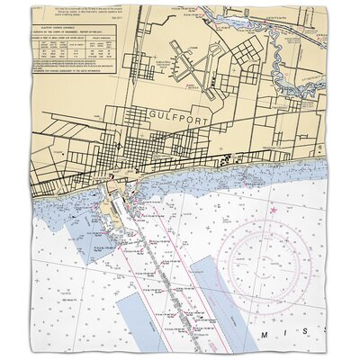 Ellisburg Gulfport, MS Fleece Blanket
