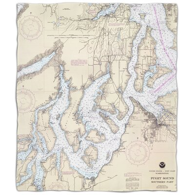 Ellisburg Puget Sound Southern, WA Fleece Blanket
