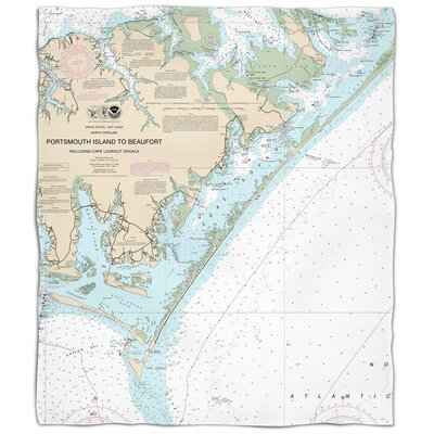 Ellisburg Portsmouth Island to Beaufort, NC Fleece Throw