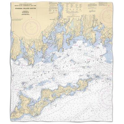 Ellisburg Fishers Island Sound, CT Fleece Throw