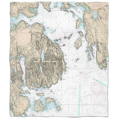 Ellisburg Frenchman Bay, Mount Desert Island, ME Fleece Throw