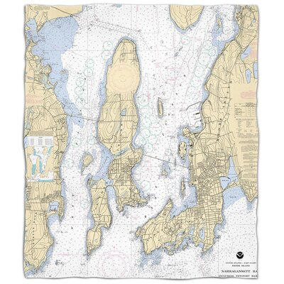Ellisburg Narragansett Bay, RI Fleece Throw