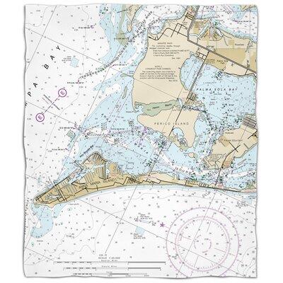 Ellisburg Anna Maria Island, FL Fleece Throw