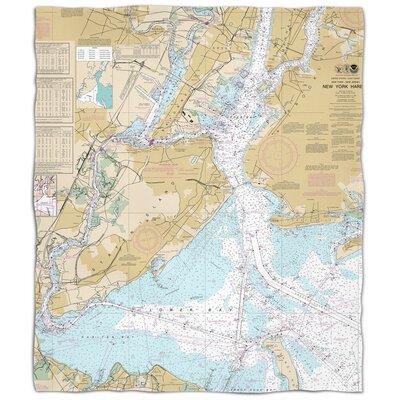 Ellisburg New York Harbor, NY Fleece Throw