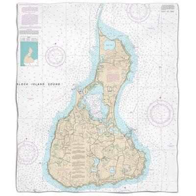 Ellisburg Block Island, RI Fleece Throw