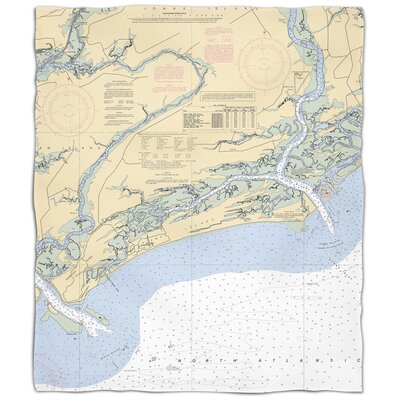 Ellisburg Kiawah Island, SC Fleece Throw
