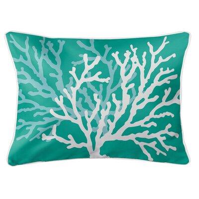 Saxondale Coral Duo Lumbar Pillow Color: Aqua