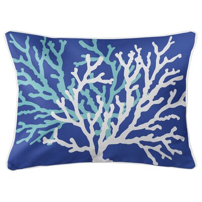 Saxondale Coral Duo Lumbar Pillow Color: Cobalt