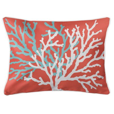 Saxondale Coral Duo Lumbar Pillow Color: Coral
