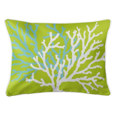 Saxondale Coral Duo Lumbar Pillow Color: Lime