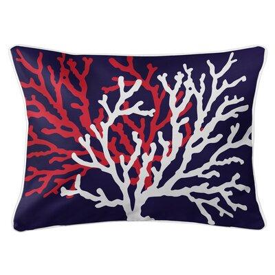 Saxondale Coral Duo Lumbar Pillow Color: Navy